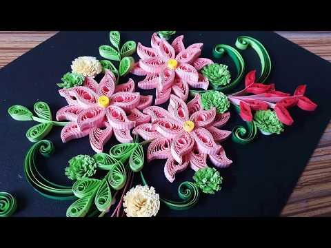 DIY Paper Quilling Flower For beginner Learning video 33 // Paper Quilling Flower Card