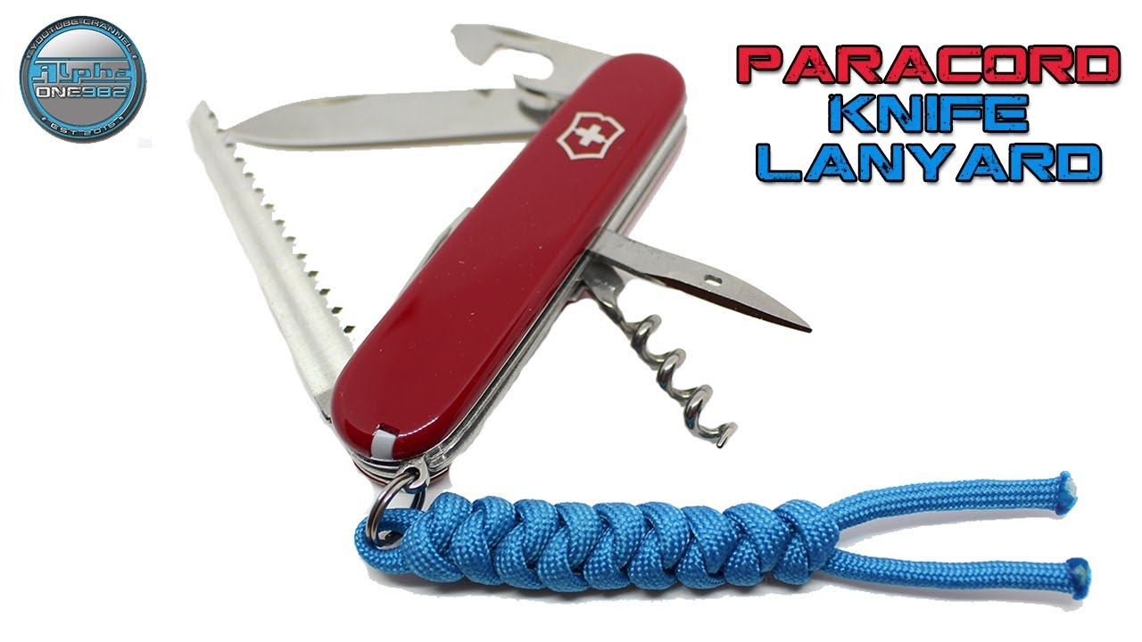 Swiss Army Knife Paracord Lanyard - Snake Knot - DIY Tutorial