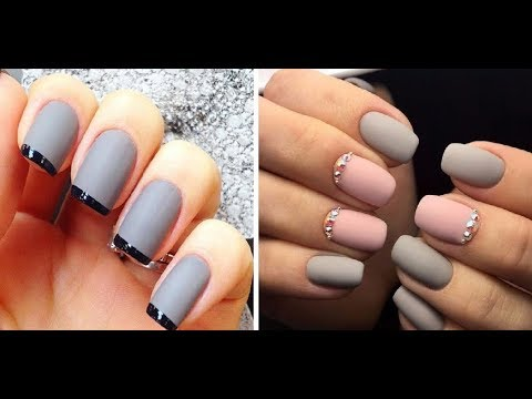 Дизайн ногтей фото серый цвет