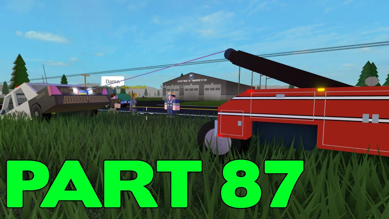 ROBLOX Mano County Patrol Part 87 | Looks like we need a Tow!