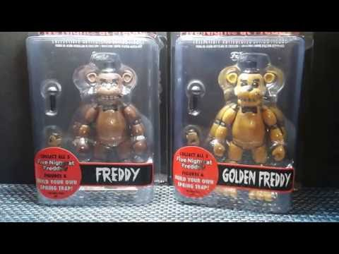 Five Nights At Freddy's action figures Freddy and Golden Freddy Review