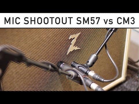 Shure SM57 vs Line  CM3 - Microphone Shootout With Dr Z Maz 38 & 59 Gibson Les Paul Junior