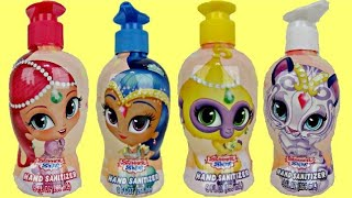 SHIMMER & SHINE Bath Squirter, Scrub & Sanitizer, Palace Friends Playset