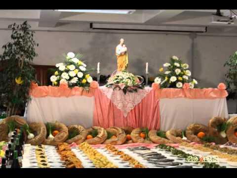 La tavola di san giuseppe tradizione di terra d 39 otranto youtube - Vi metto a tavola san benedetto ...