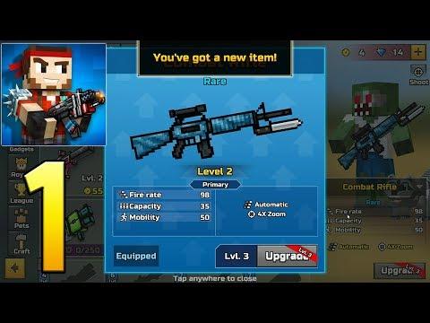 Pixel Gun 3D - Gameplay Walkthrough Part 1 - Combat Rifle