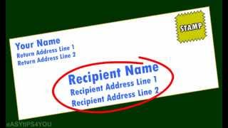 How Address Envelope