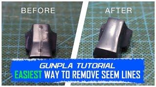 Gunpla Tutorial: Easiest Way to Remove Seam Lines