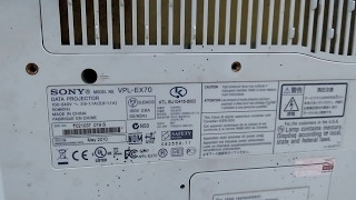Repair Sony vpl-ex70 projector without power, not power, no light source