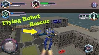 Flying Robot Grand City Rescue Android Game
