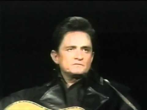 Johnny Cash Sings Man In Black For The First Time With Intro
