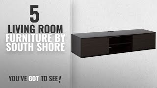 Top 10 South Shore Living Room Furniture [2018]: South Shore Agora Wall Mounted Media Console, 56