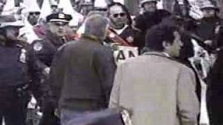 Klan gets their asses kicked KKK Rally New York City 1999