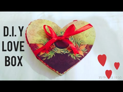 D.I.Y LOVE BOX FOR VALENTINE'S DAY❤️❤️❤️❤️