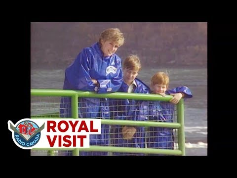 Princess Diana, Prince William And Prince Harry Visit Niagara Falls, 1991