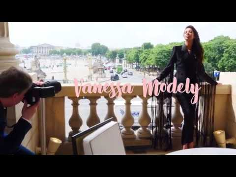 Backstage shooting  Adrien Perreau avec Vanessa Modely