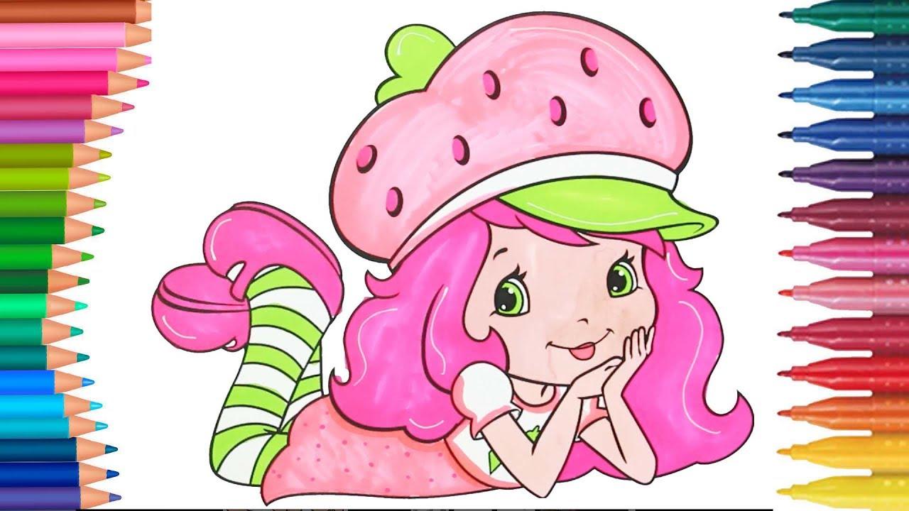 çilek Kız çizgi Film Karakteri Boyama Sayfası Minik Eller Boyama