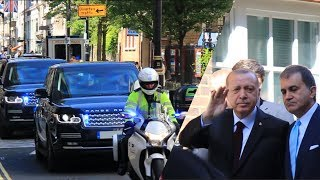 President Erdoğan in London under tight security