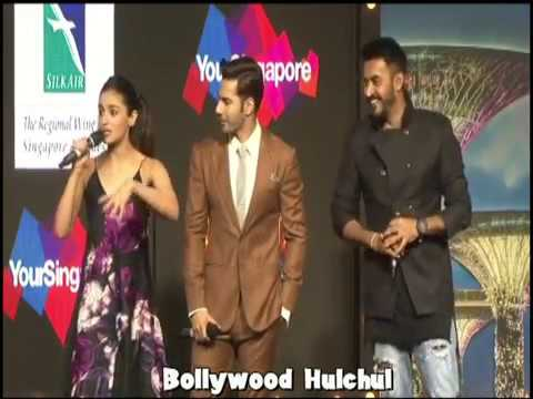 AliaBhatt and  Varun Dhawan Promotes Badrinath Ki Dulhaniya at Singapore Tourism Event