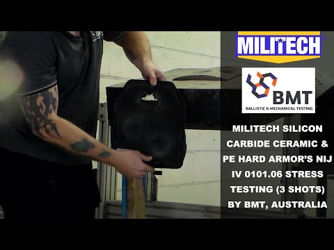 MILITECH SILICON CARBIDE CERAMIC & PE HARD ARMOR