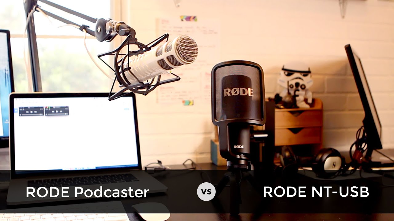 podcast microphone review rode podcaster vs rode nt usb comparison youtube. Black Bedroom Furniture Sets. Home Design Ideas