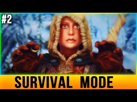 Skyrim SURVIVAL MODE Walkthrough - CHALLENGE [Part 2]