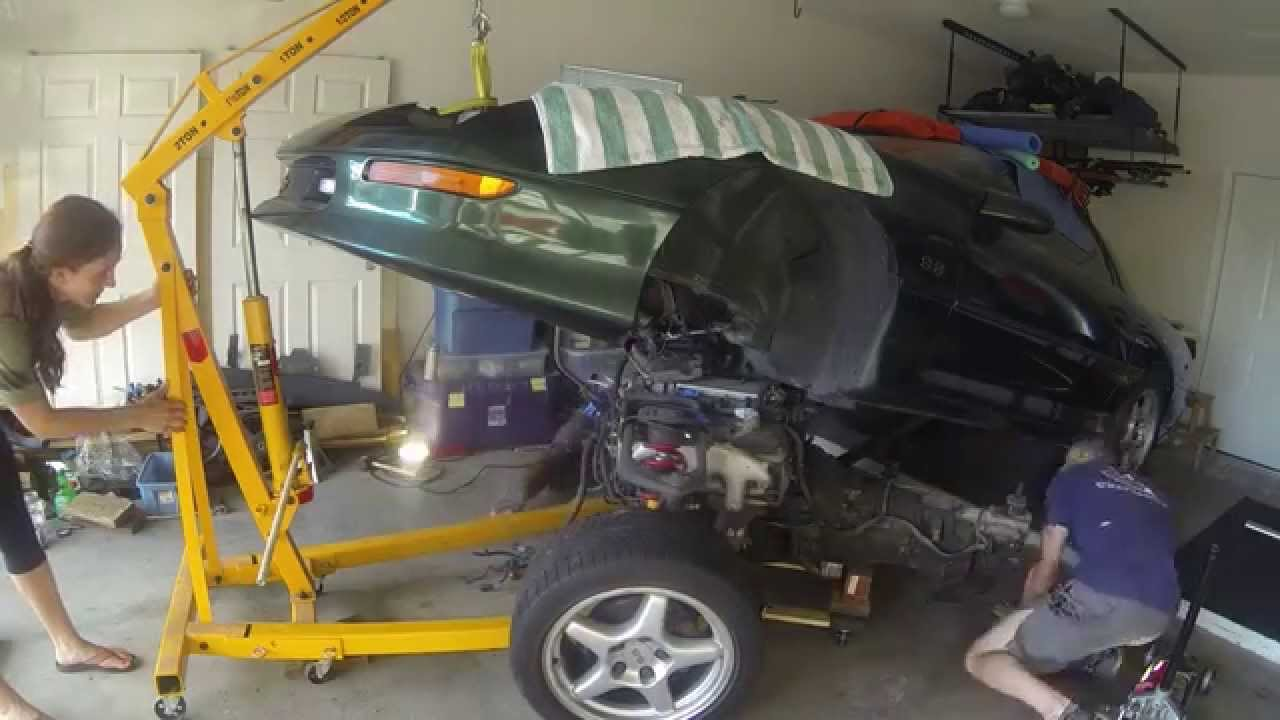 1997 Camaro Ss Engine Removal Youtube