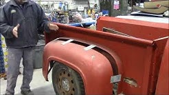 1953 Ford F100 Truck Restoration , Body Fitted to Frame Continues,  lastchanceautorestore com