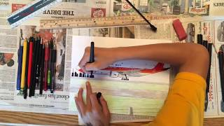 Angola Airlines (TAAG) 777 - 300ER | Timelapse Drawing