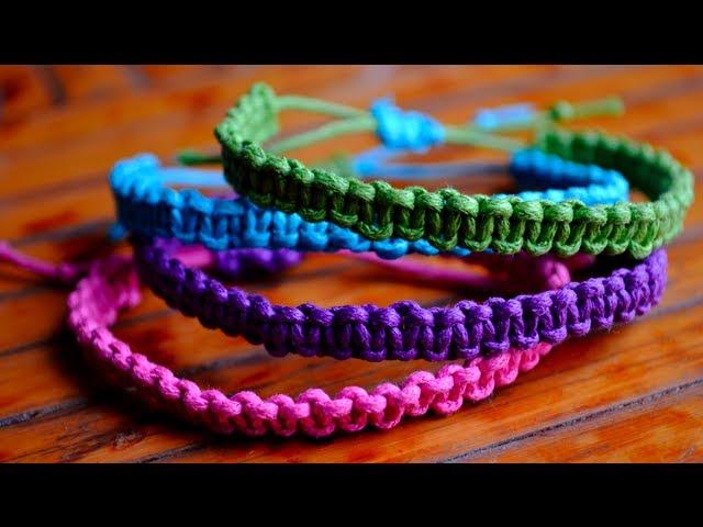 waterproof chevron bracelet set macrame knotted friendship bracelet adjustable Men braided bracelet wax cord surf thread bracelet woven