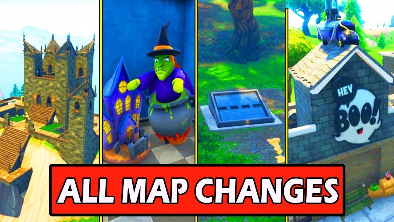 all new map changes secret bunker halloween shop fortnite update season 6 - all secret bunkers in fortnite