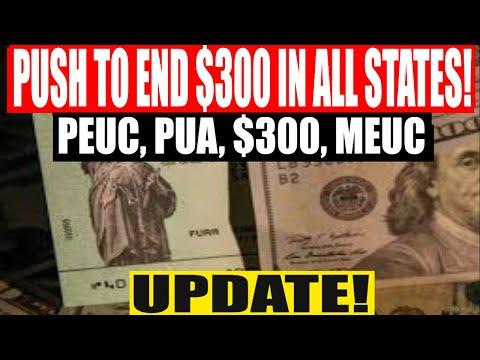 A Push To End $300 in All States? PUA, PEUC, $300, MEUC Update!