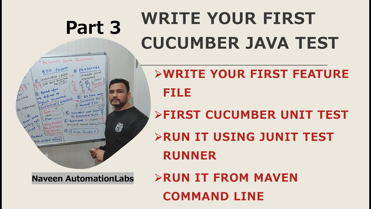 Download #3 - Cucumber (BDD) with Java - Write your first #Cucumber Test with (#Gherkin) Feature File (2021)
