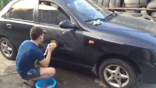 Как НЕ НАДО полировать машину!(Гости из ближнего зарубежья полируют свой Chevrolet Lanos на пыльной улице, не помыв предварительно машину и к..., 2015-09-18T10:21:12.000Z)