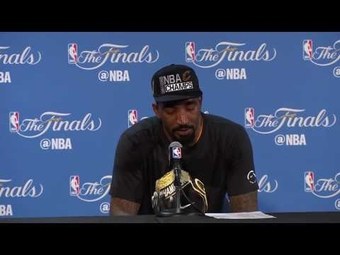 J.R. Smith emotional interview on his father after winning the championship (2016)