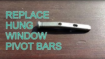 DIY Fix Hung Window with Replacement Pivot Bars