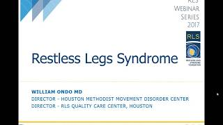 Webinar 2017 - What is Restless Legs Syndrome (RLS)?