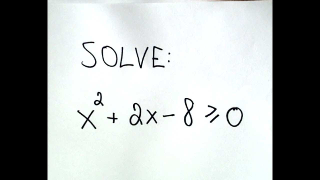 Solving quadratic inequalities youtube buycottarizona Gallery