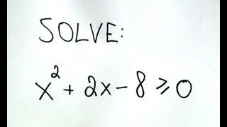 حل التفاوت في الدرجة الثانية