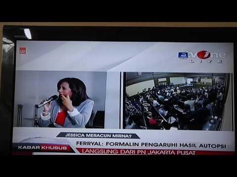 Sidang Jesica Reporter TV One keceplosan bilang Cherry Bell