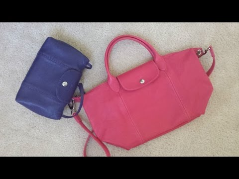 3b8aa7a5bdde1 Longchamp Le Pliage Cuir Review - YouTube