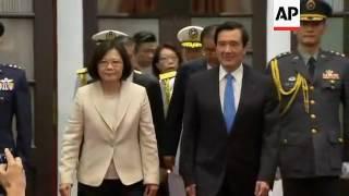 Tsai takes oath as Taiwan's president