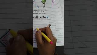 How to write capital letter 'K' & small letter 'k'.