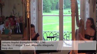 J L Krumpholtz 3 mvt Harp duo Aichhorn Kofler