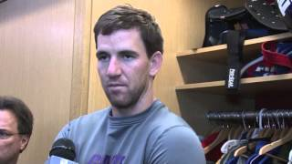 Eli Manning on Clock Management and 4th Quarter Leads