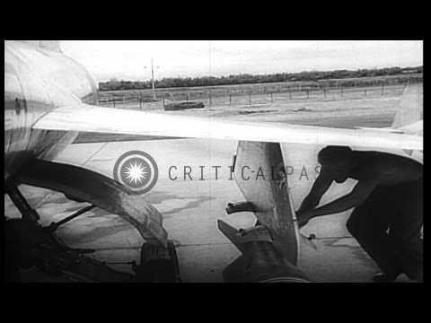 United States Defense Secretary Robert McNamara talks about the air strikes on oi...HD Stock Footage