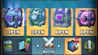 Big Clash Royale Chest Opening + Gameplay!