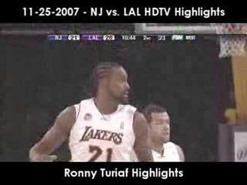 11-25-2007 - NJ vs. LAL HDTV Highlights (Part 1)