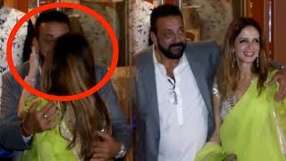 Sanjay Dutt's AWKWARD Kissing Moment With Sussanne Khan At His Diwali Bash