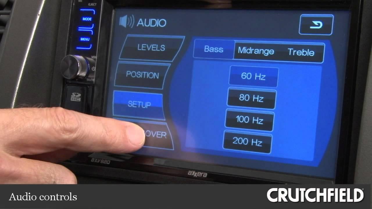 Axxera AXV820 DVD Receiver Display and Controls Demo | Crutchfield Video