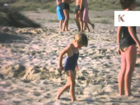 1960s Beautiful Beach Holiday, UK Home Movies